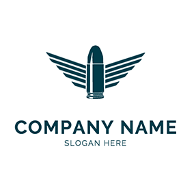 Abstract Bird Wings and Bullet logo design