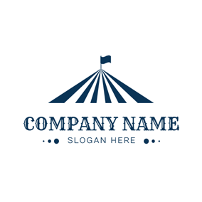 Abstract Blue Tent logo design