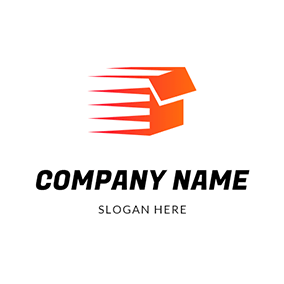 Abstract Box Speed Courier logo design