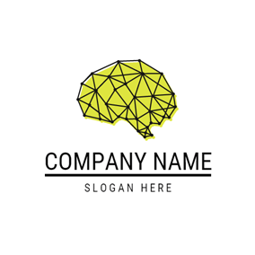 Abstract Brain and Math logo design