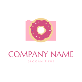 Abstract Camera and Doughnut logo design