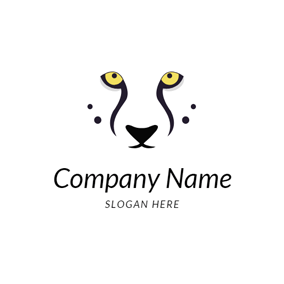 Abstract Cheetah Head logo design