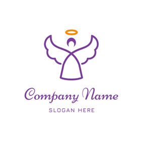 Abstract Circle and Angel logo design