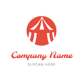 Abstract Circle and Tent logo design