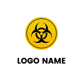 Abstract Circle Toxic Logo logo design