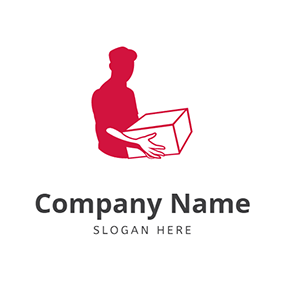 Abstract Courier Simple Box logo design