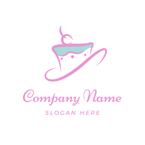 Abstract Cupcake Icon logo design