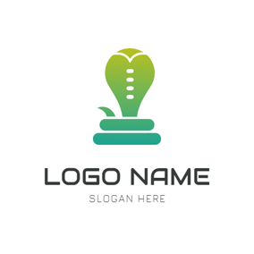 Abstract Curved Snake Icon logo design