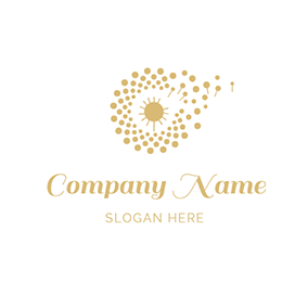 Abstract Dandelion and Irregular Circle logo design