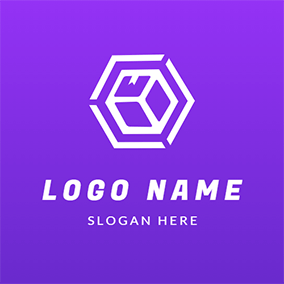Abstract Expressage Hexagon Geometry logo design