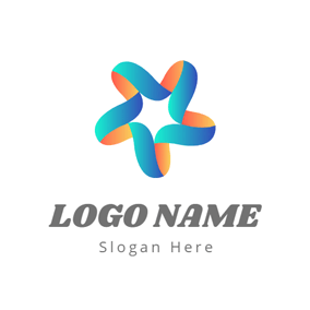 Abstract Flower and Star logo design