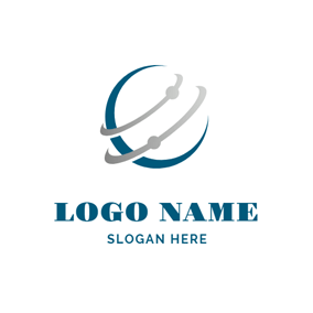 Abstract Globe and Galaxy logo design
