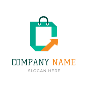 Abstract Green Bag Icon logo design