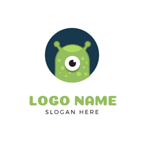 Abstract Green Monster logo design