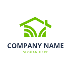 Abstract Green Roof logo design