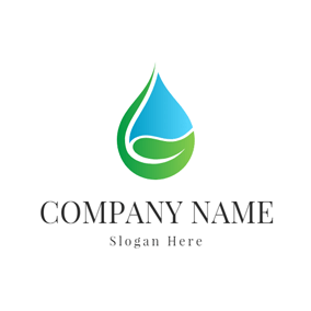 Abstract Hand and Water Drop logo design