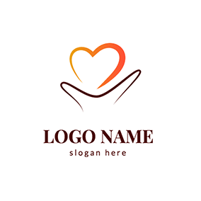 Abstract Heart and Hand Donation Logo logo design