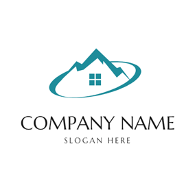 Abstract House and Hill logo design
