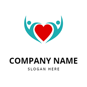 Abstract Human Heart Healing logo design
