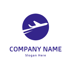 Abstract Jet and Airplane logo design