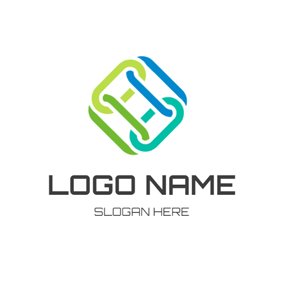Abstract Line and Chain logo design