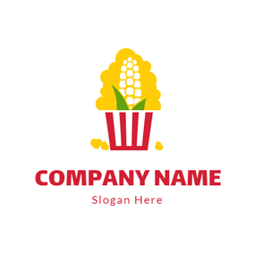 Abstract Maize and Popcorn logo design
