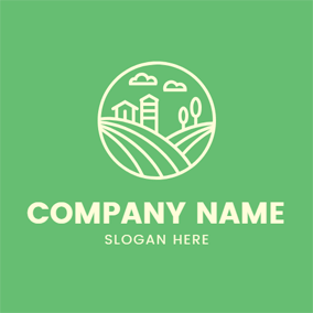 Abstract Meadow and Farm logo design