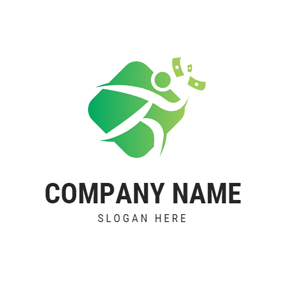 Abstract Money and Person logo design