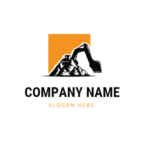 Abstract Mountain and Excavator logo design