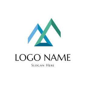 Abstract Mountain Icon logo design