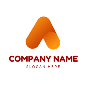 Abstract Orange Arrow logo design