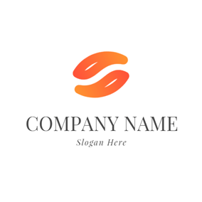 Abstract Orange Seed Icon logo design