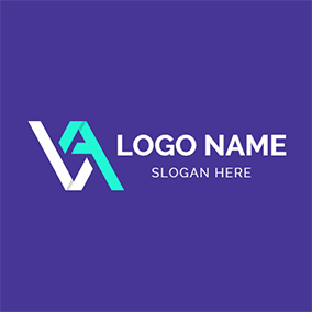 Abstract Paper Folding and V A logo design