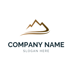 Abstract Pathway and Mountain logo design