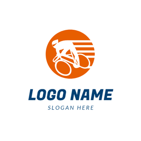 Abstract Rider and Bike logo design