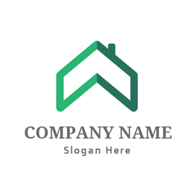 Abstract Roof and Arrow logo design