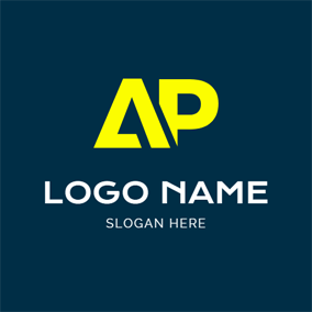 Abstract Simple Letter A and P logo design