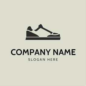 Abstract Sneaker Shoe Icon logo design