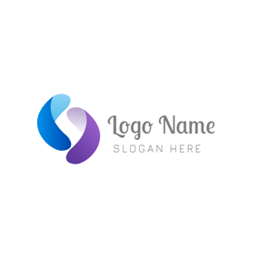 Abstract Solid and Symmetrical Parenthese logo design