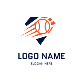 Abstract Speed Softball logo design