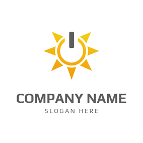 Abstract Sun and Solar logo design