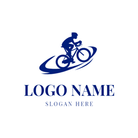 Abstract Track and Bike logo design