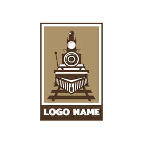 Abstract Train and Railway logo design