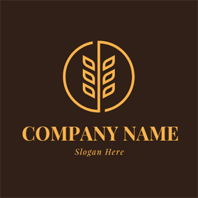 Abstract Wheat Ear and Seed logo design