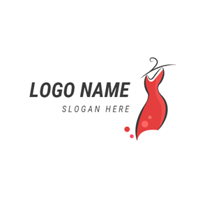 Abstract Wind and Red Skirt logo design