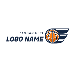 Abstract Wing and Basketball logo design