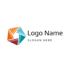 Abundant Colorful Triangle logo design