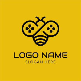 Adorable Bee and Special Gamepad logo design