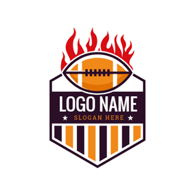 Afire Rugby and Hexagon Badge logo design