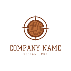 Aim Point and Wood logo design